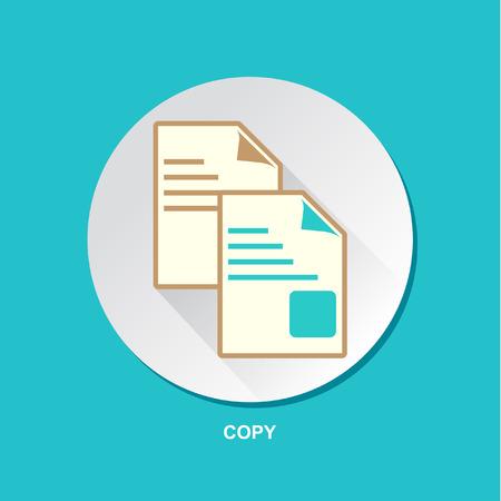 inkjet: Paper Photocopy Icon Vector Design Illustration Set Illustration