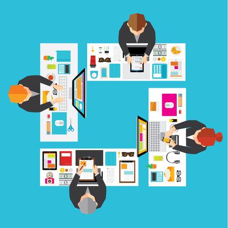創造的なビジネスおよびオフィスの概念ベクトルのデザイン