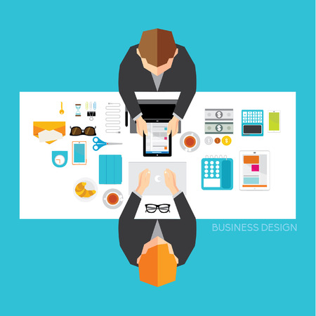 Creative Business and Office Conceptual Vector Design