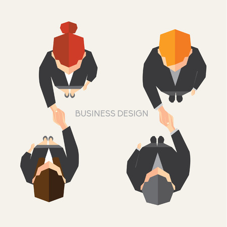 business partner: Creative Business and Office Conceptual Vector Design