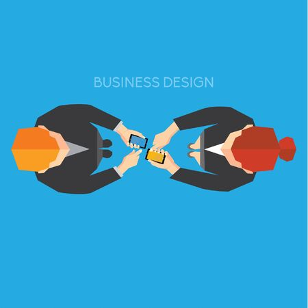 global work company: Creative Business and Office Conceptual Vector Design