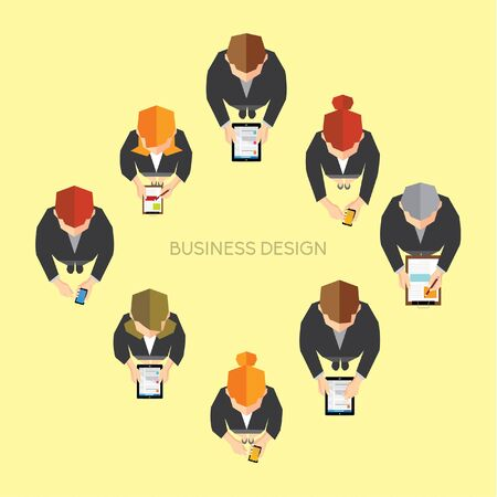 Creative Business and Office Social Network Conceptual Vector Design Vector