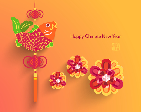 chinese background: Oriental Happy Chinese New Year Vector Design
