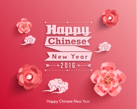 Oriental Happy Chinese New Year Vector Design Banco de Imagens - 50565617