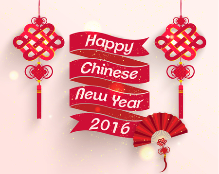 new year decoration: Oriental Happy Chinese New Year Vector Design