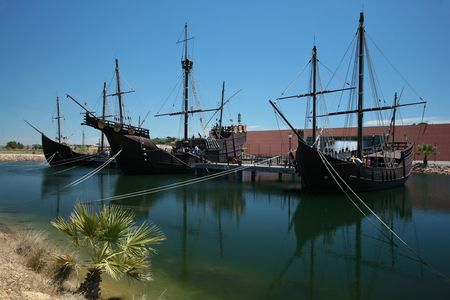 columbus caravels at museum in huelva
