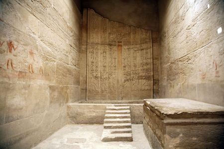 tumbas: egipcios habitaci�n dentro de un templo egipcio