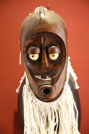 front view of a wood african mask Stock Photo - 2392718