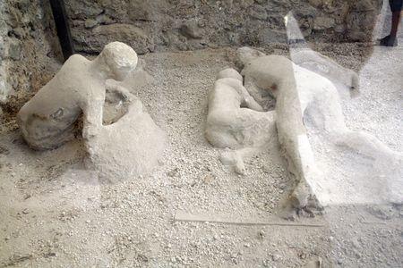 cadaver: gypsum   from pompeii city Stock Photo