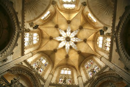 one of the cupolas in the burgos cathedral Stock Photo