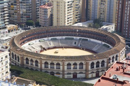 malaga: bullring of malaga city in andalusia spain Stock Photo