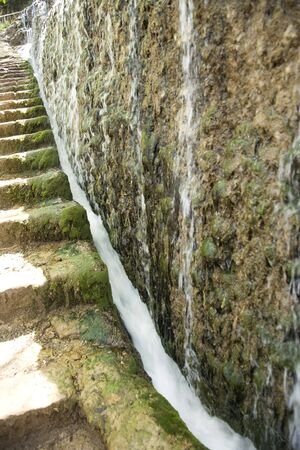 waterfall at monasterio de piedra saragossa aragon spain photo