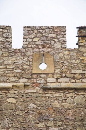 loophole: loophole of the castle at chinchilla village in albacete spain