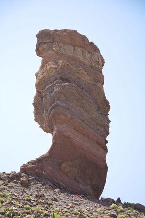 garcia: famous volcanic rocks by name garcia near teide volcano in spain Stock Photo