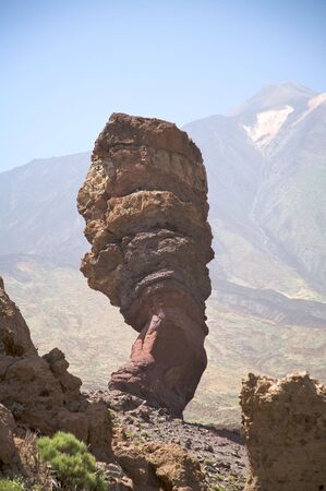 volcanic stones: famous volcanic rocks by name garcia near teide volcano in spain Stock Photo