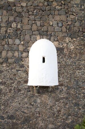 sentry: sentry box  at castle of puerto de la cruz tenerife spain