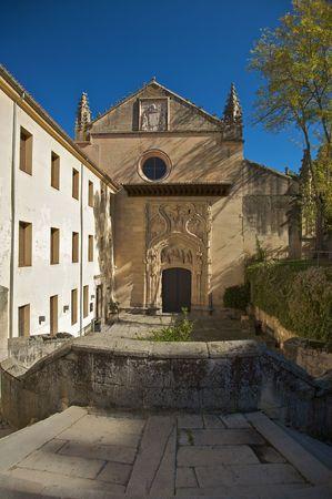 segovia: monastery church at segovia Stock Photo