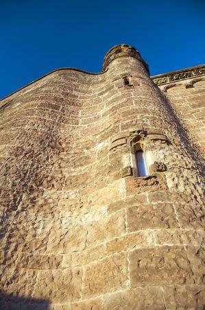 tibidabo: big tower at tibidabo church in barcelona