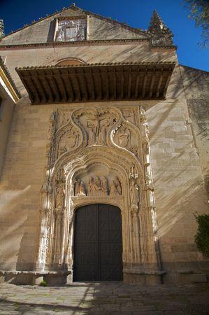 wood panelled: monastery church at segovia Stock Photo