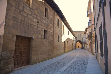 santo: street in santo domingo de la calzada la rioja spain