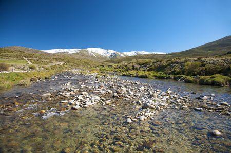 river at gredos natural park photo