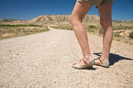 navarra: desert of Bardenas Reales at navarra in spain Stock Photo