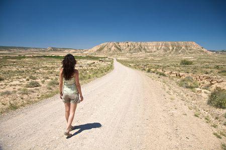 desert of Bardenas Reales at navarra in spain Stock Photo - 5410768