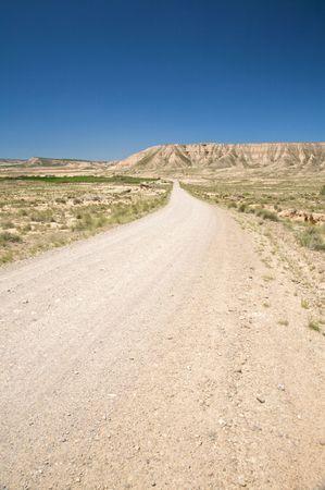 desert of Bardenas Reales at navarra in spain photo