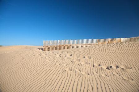 sand dunes at valdevaqueros beach in spain photo