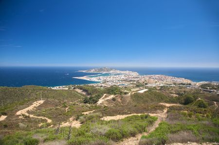 aerial view of ceuta spanish town in africa Stock Photo