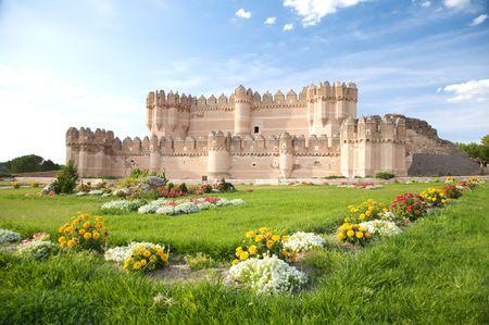 public free access big castle at coca city in spain photo