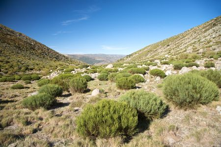 castilla: mountains at gredos natural park in avila spain Stock Photo