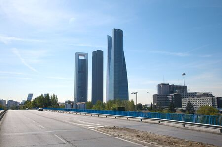 building skyscrapers at madrid city in spain Stock Photo - 6040340
