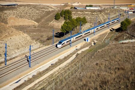 ave: the fastest train AVE railway at Spain