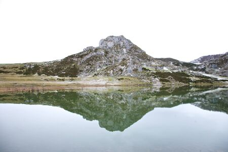 covadonga: lakes of Covadonga at Asturias in Spain