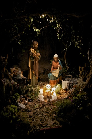 nativity scene with sacred family
