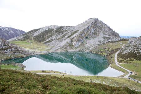 covadonga: lakes of Covadonga at Asturias in Spain