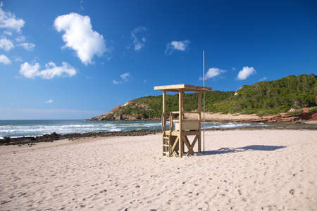 menorca: Algaiarens beach at Menorca island in Spain