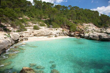 menorca: Mitjaneta beach at Menorca island in Spain