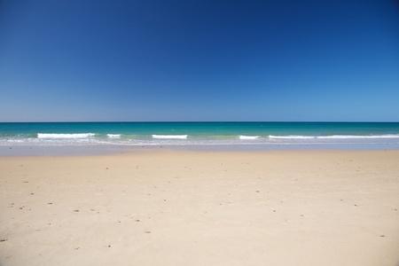 Zahara beach at Cadiz Andalusia in Spain photo