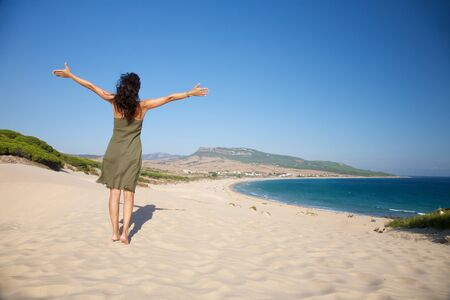 beach named Bolonia at Cadiz Andalusia in Spain photo