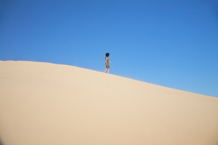great sand dune at Cadiz Andalusia in Spain