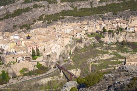 cuenca: view of Cuenca city at Castilla-La Mancha in Spain