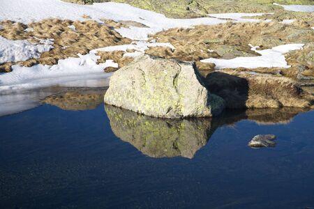 mountain of Gredos at Avila in Castilla Spain photo