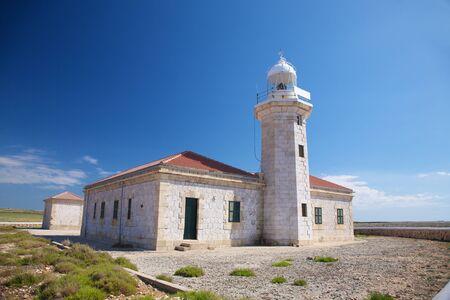 menorca: lighthouse of Punta Nati at Menorca island in Spain