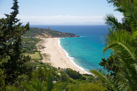 German beach next Zahara at Cadiz Andalusia in Spain photo
