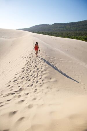 great sand dune at Cadiz Andalusia in Spain photo