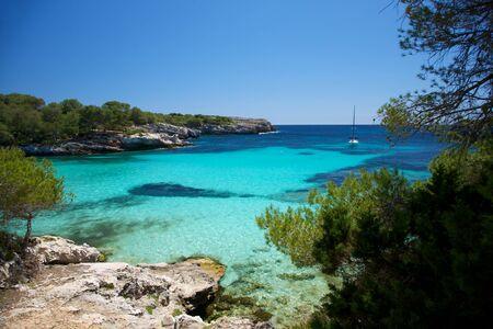 menorca: Turqueta beach at Menorca island in Spain