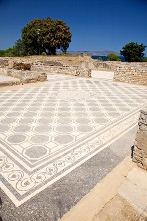 catalunya: public ruins of Empuries ancient greek and roman city at Catalunya Spain Stock Photo