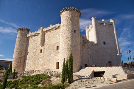 castilla: castle of Torija at Guadalajara in Castilla Spain Stock Photo